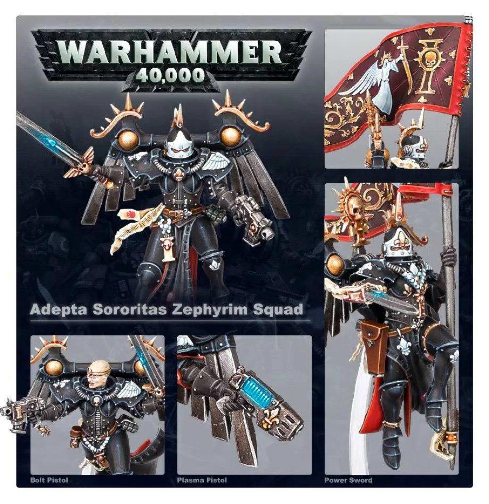 seraphim zephyrim squad battle sister warhammer 40k