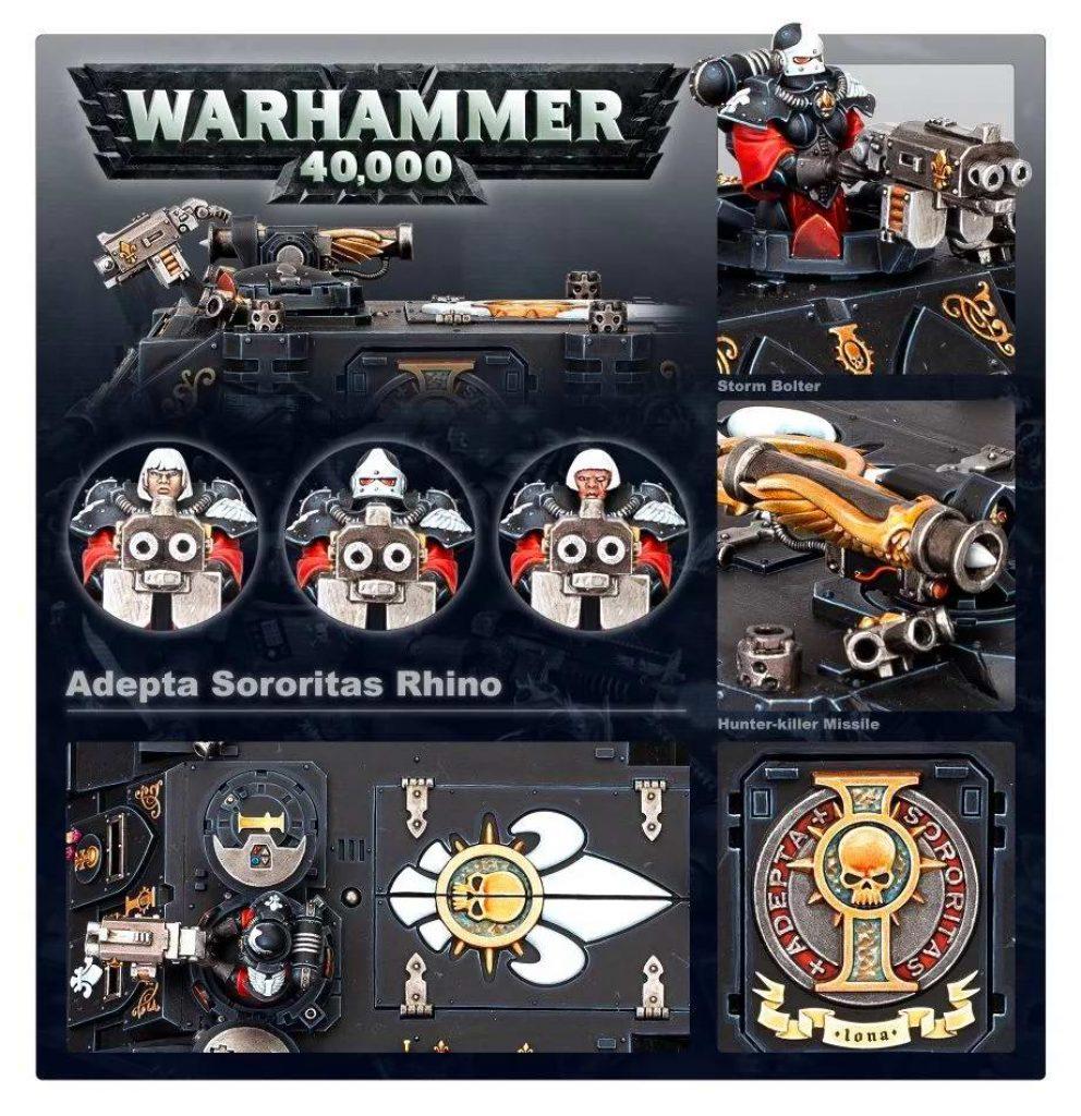 Adepta sororitas rhino warhammer 40k