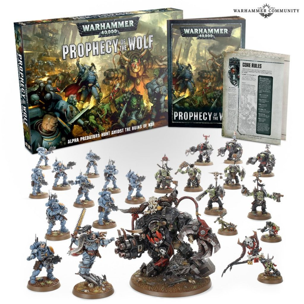 Prophécy of the wolf space wolves and Ragnar vs orks and ghazkull