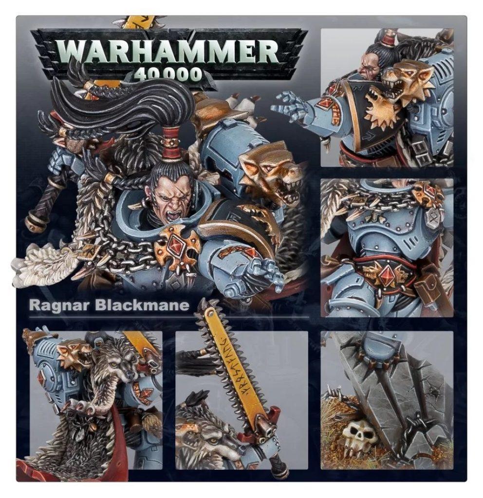 Ragnar Blackmane space wolf Warhammer 40K