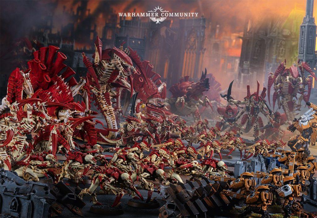 Armée de Tyranids contre des T'au