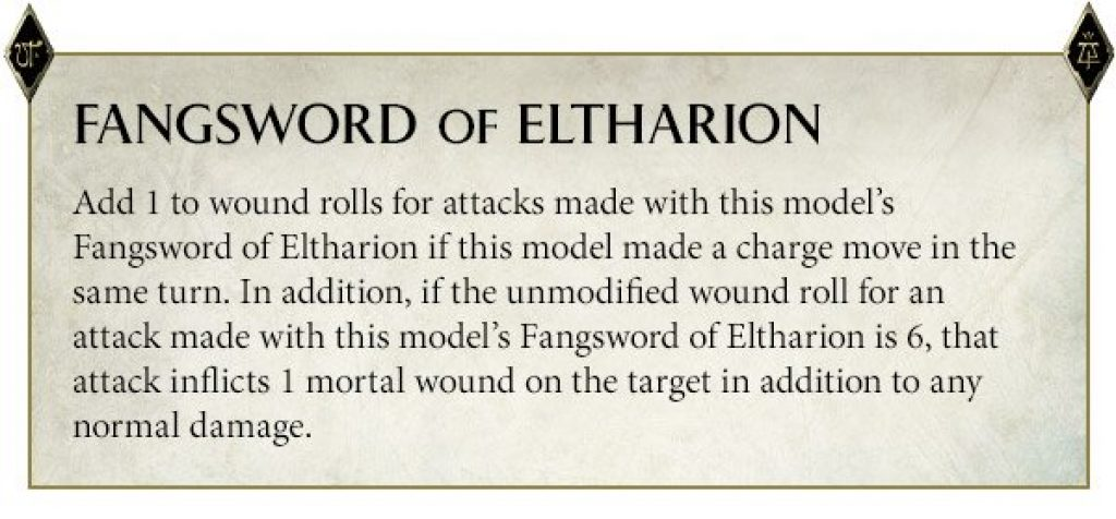 Eltharion Special Rules