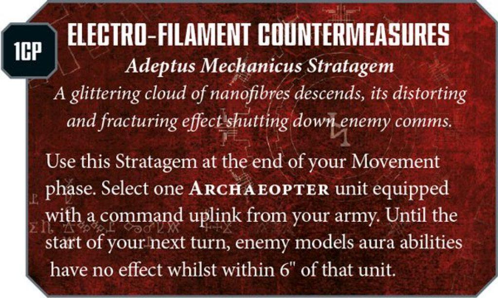 Ad Mech Engine War Stratagem