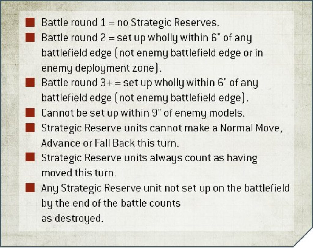 reserve strategic V9