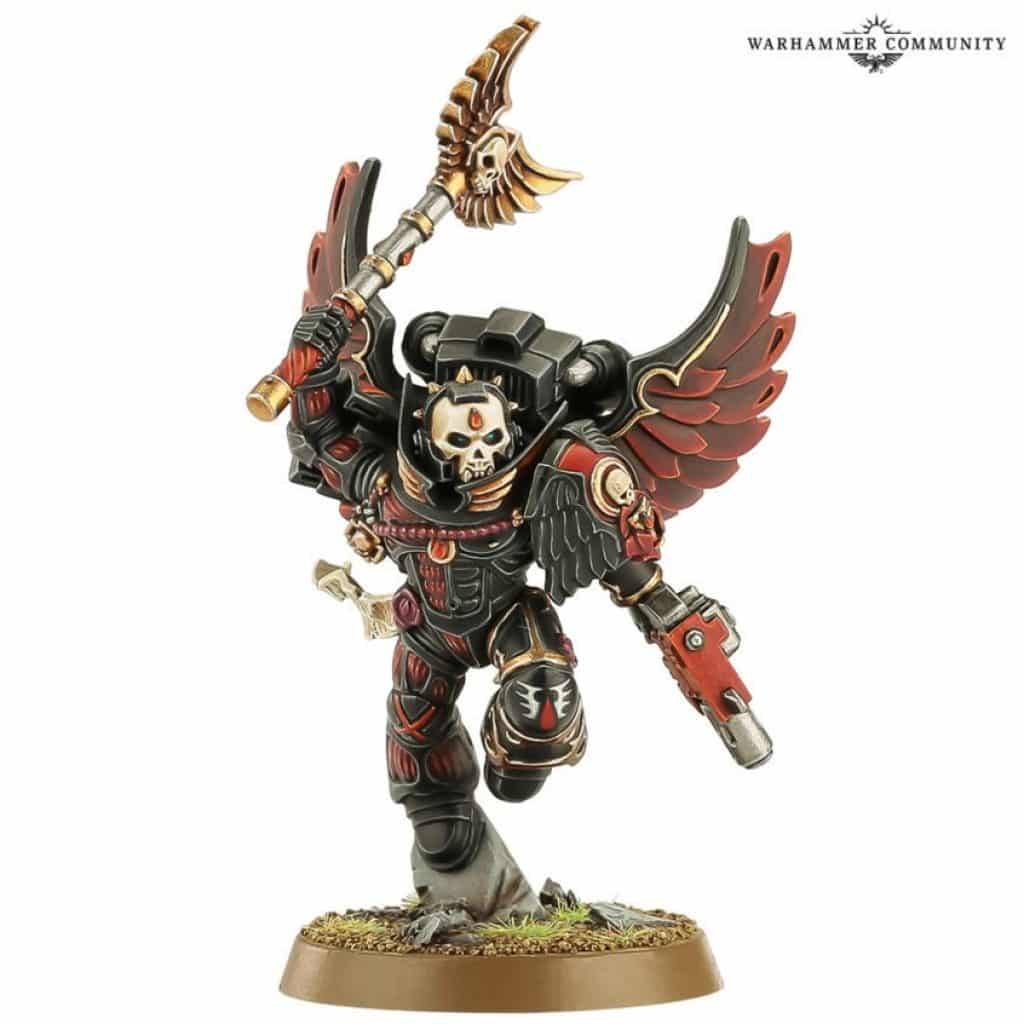 Chaplain with jump-pack Blood Angel