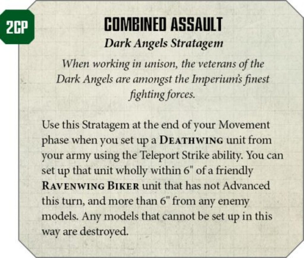 Dark Angels Rules