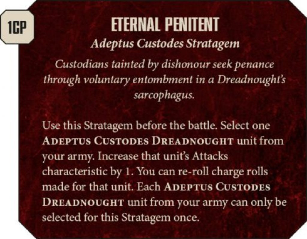 Adeptus Custodes Rules