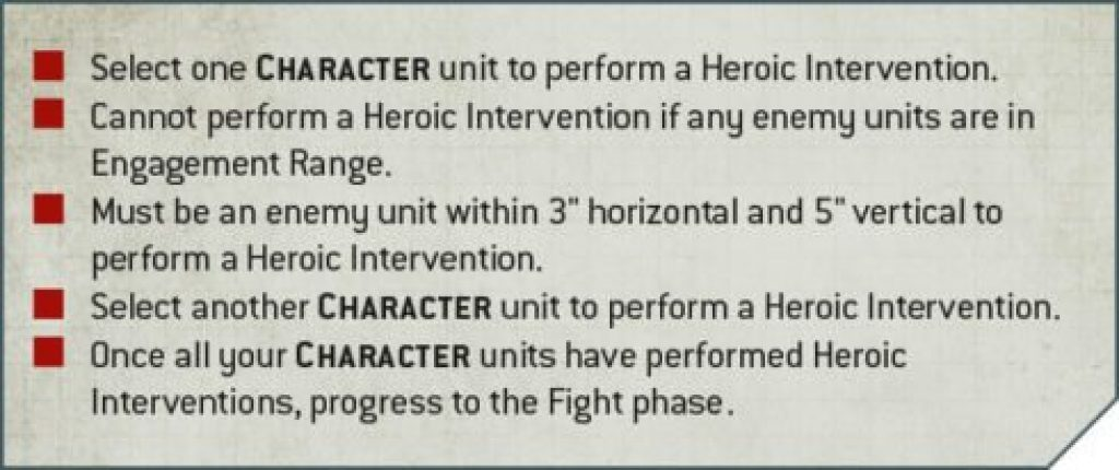 Heroic Intervention rules
