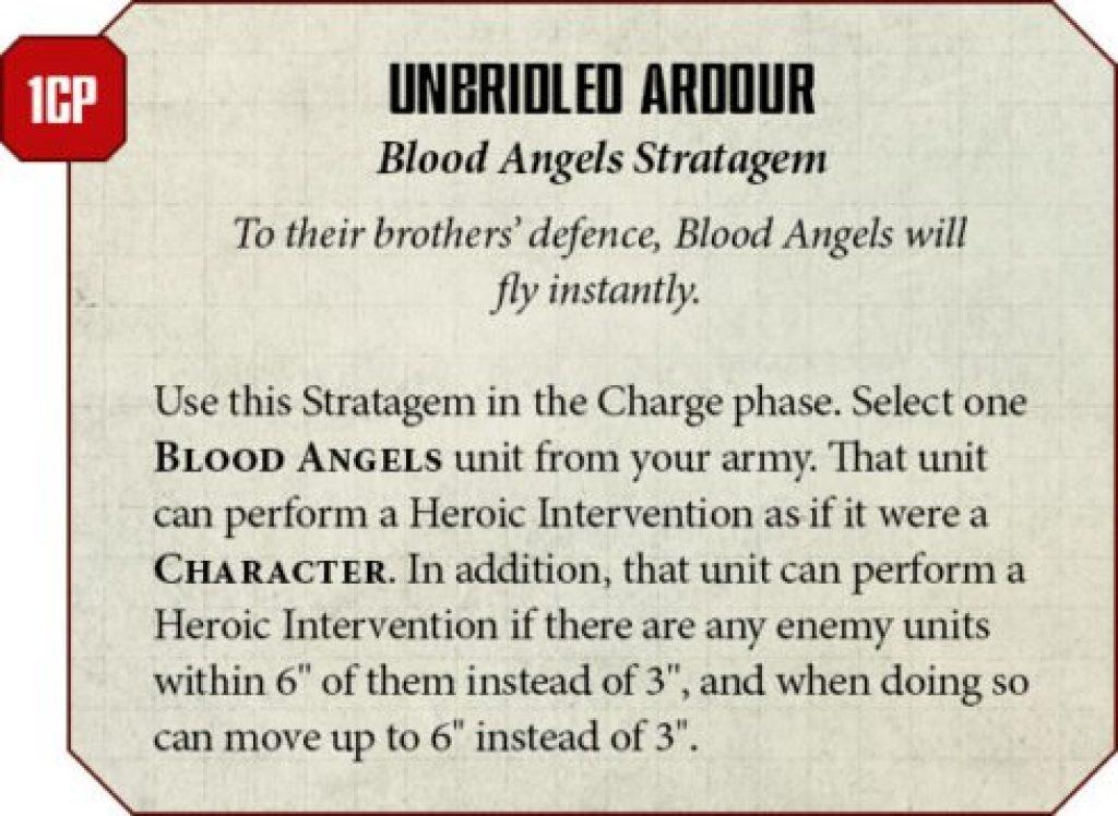 Blood Angels rules