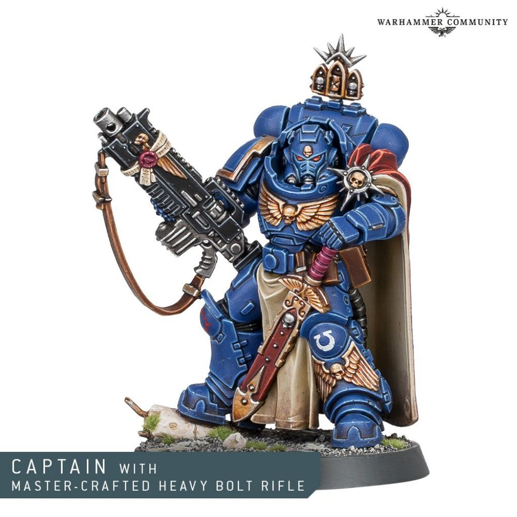 Primaris Captain with Master-crafted Heavy Bolter rifle