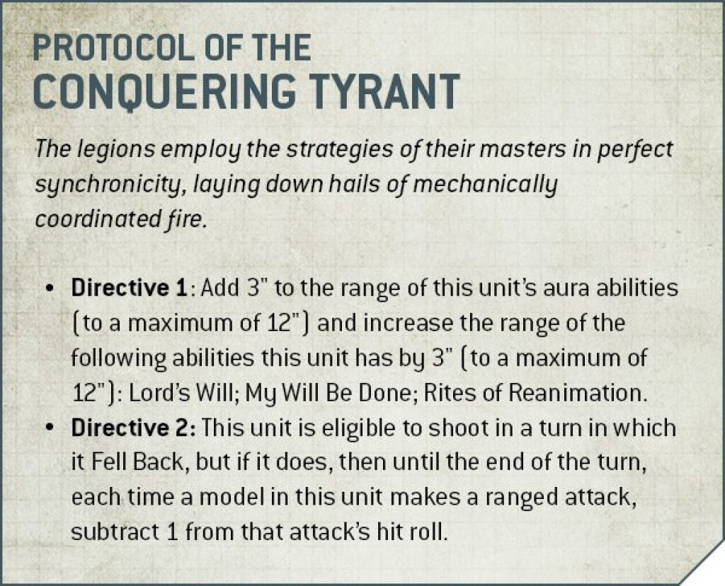Necron protocol Conquering Tyrant