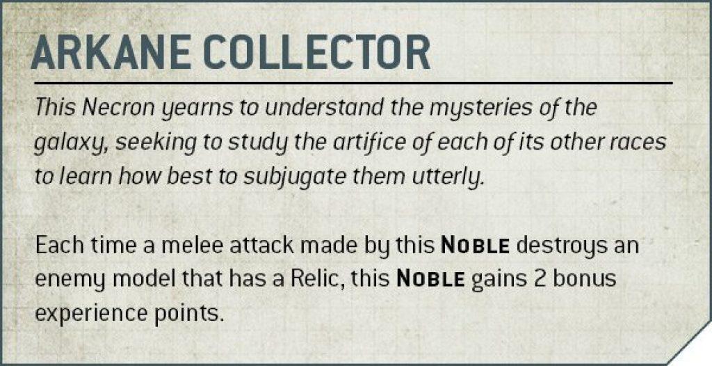 Arkane Collector Rules Nécron