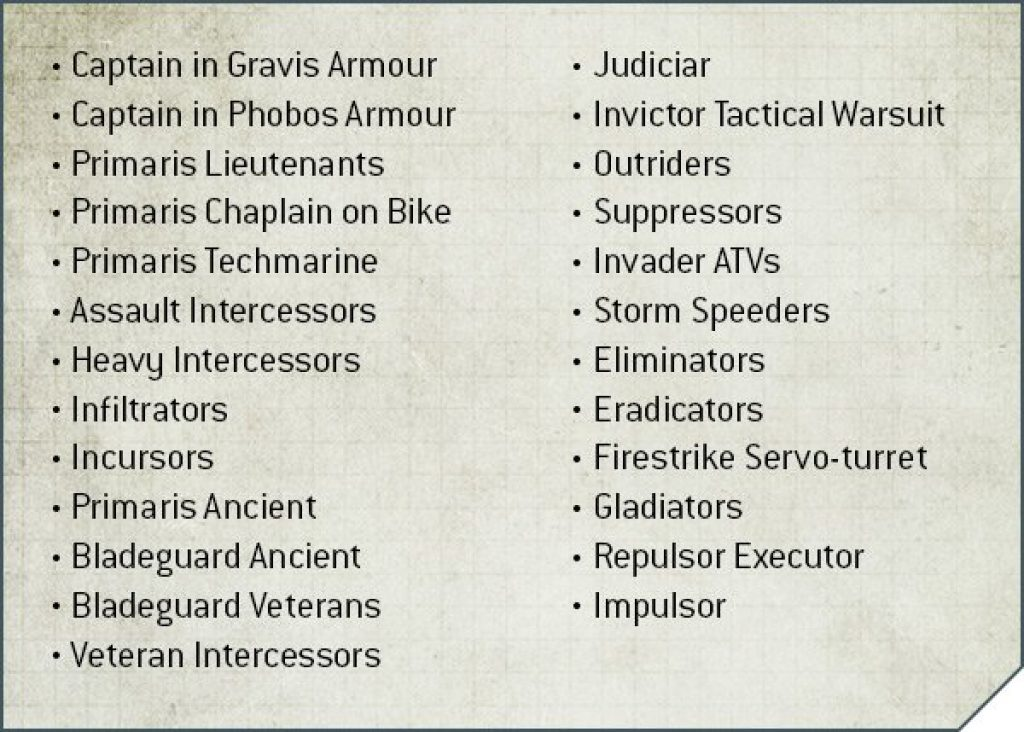 New Deathwatch Allowed units