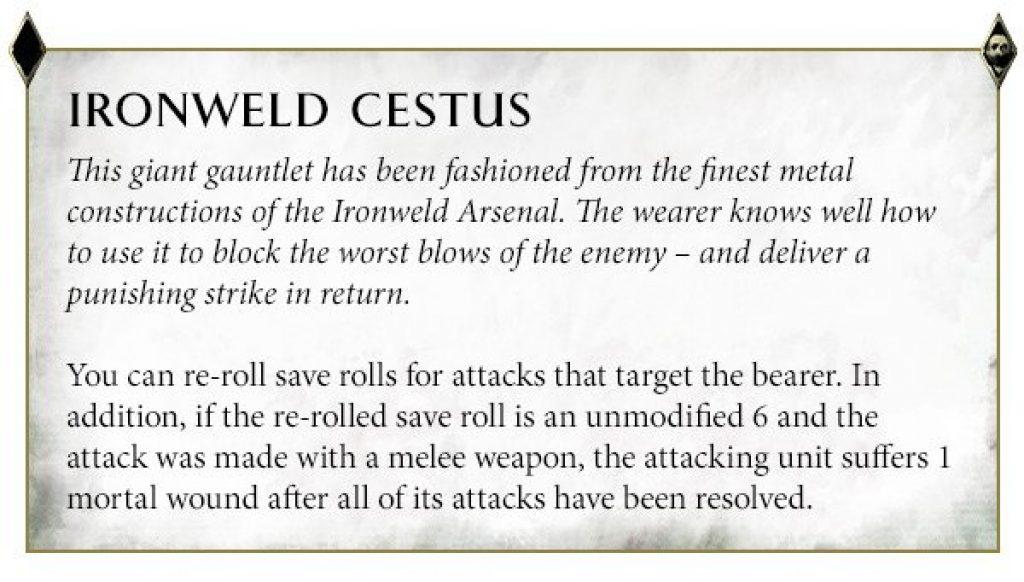 IronWeld Cestus Warstomper rules