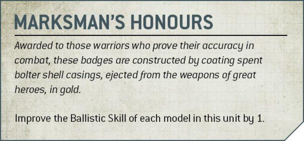 marksman's honour Rules