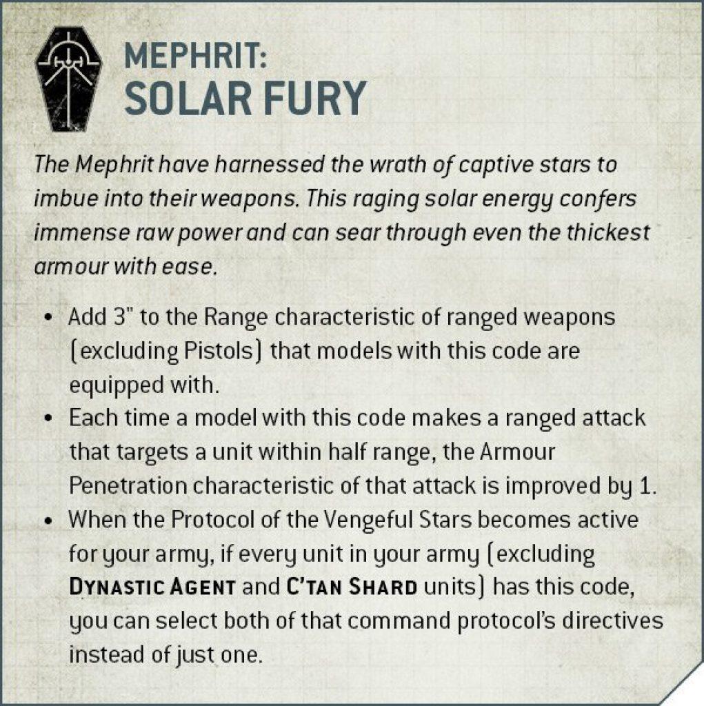 mephrit dynasti solar fury