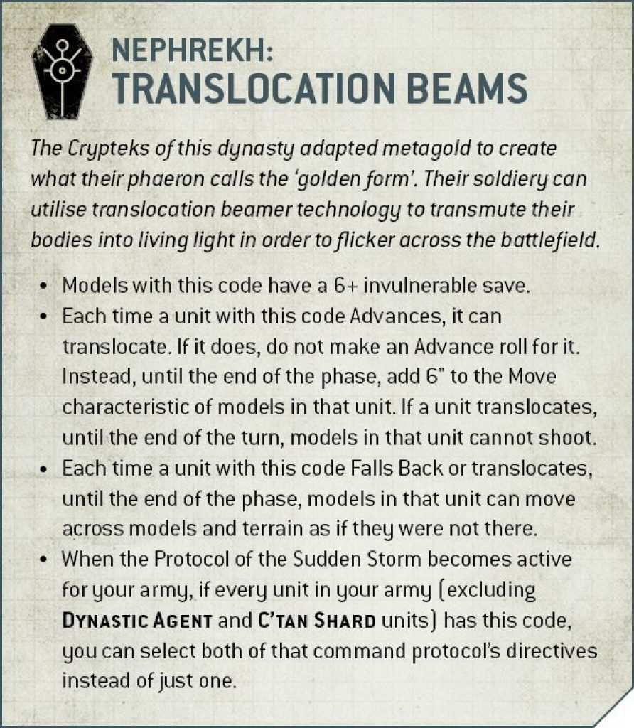 nephrekh dynasti translocation beams