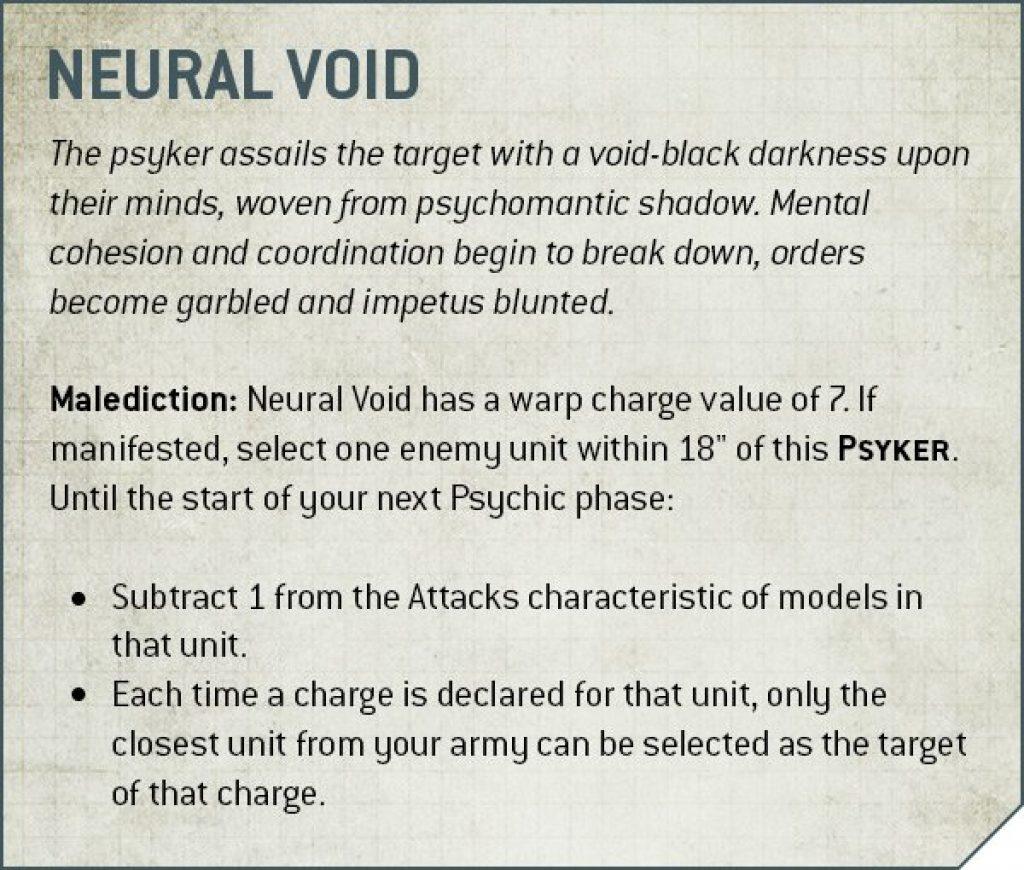 Deathwatch Neural Void Rules