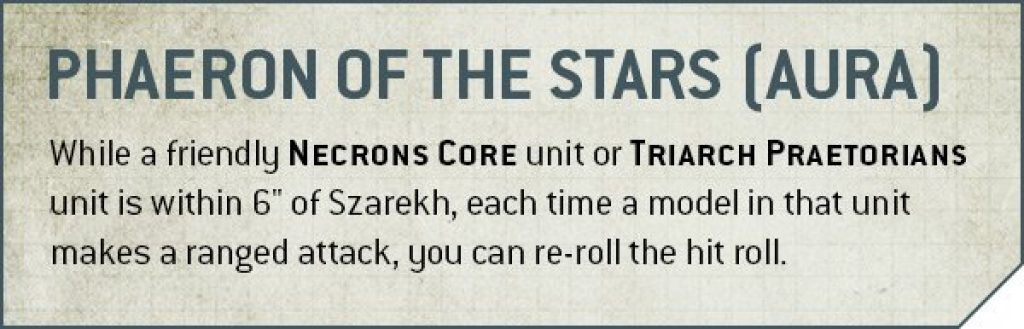 Phaeron of the Stars Rules