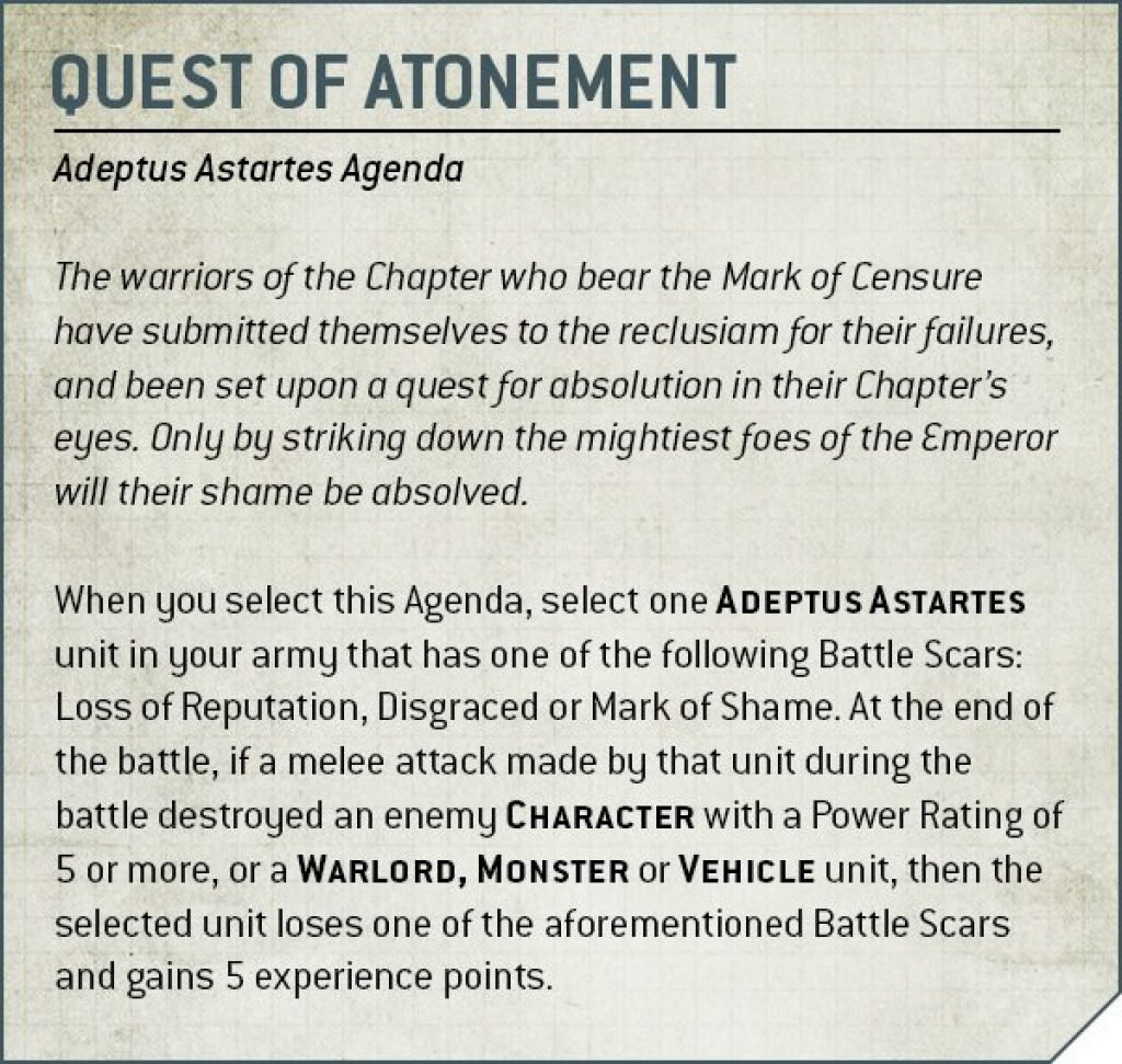 quest of atonement rules