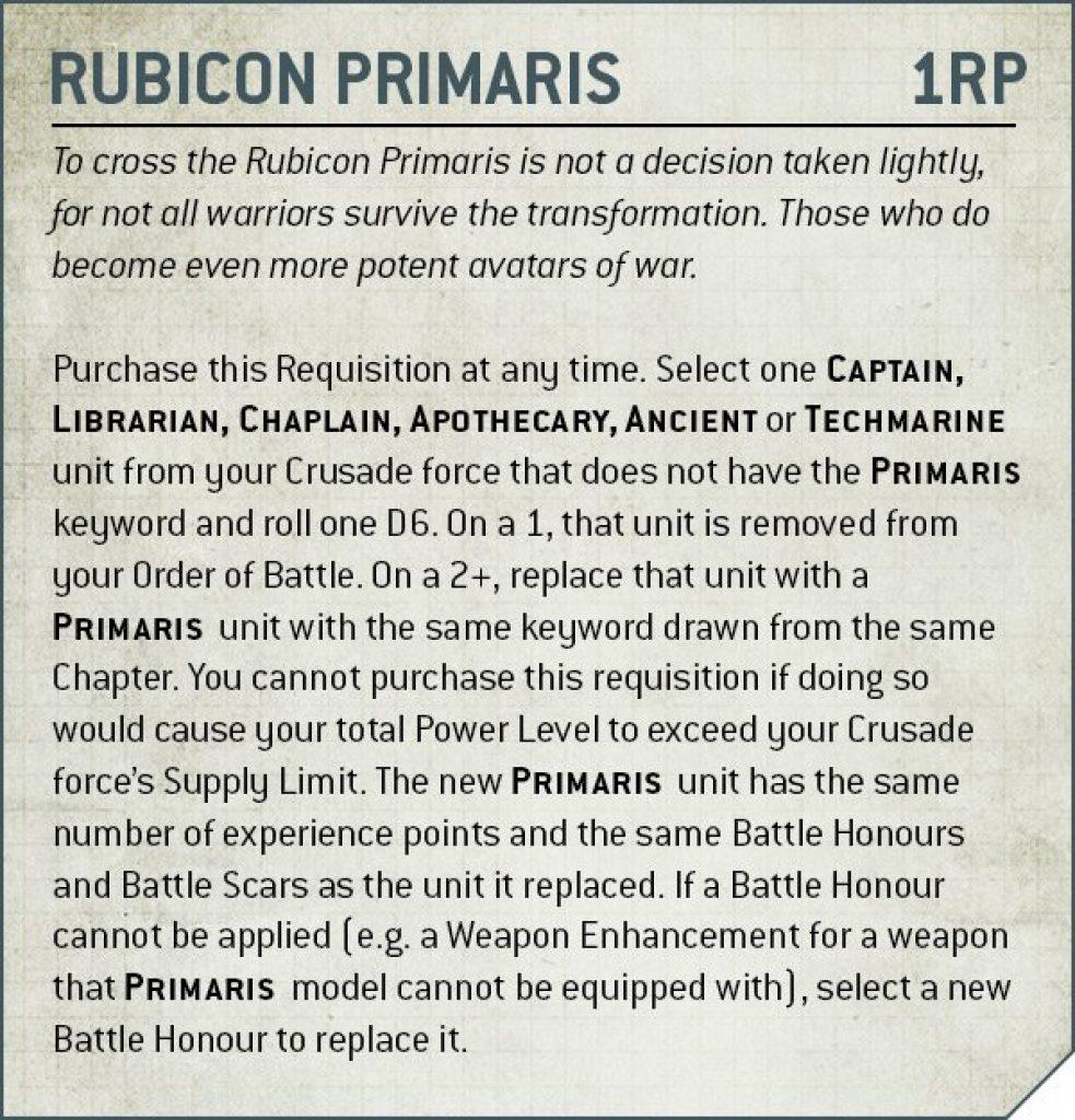 rubicon primaris rules