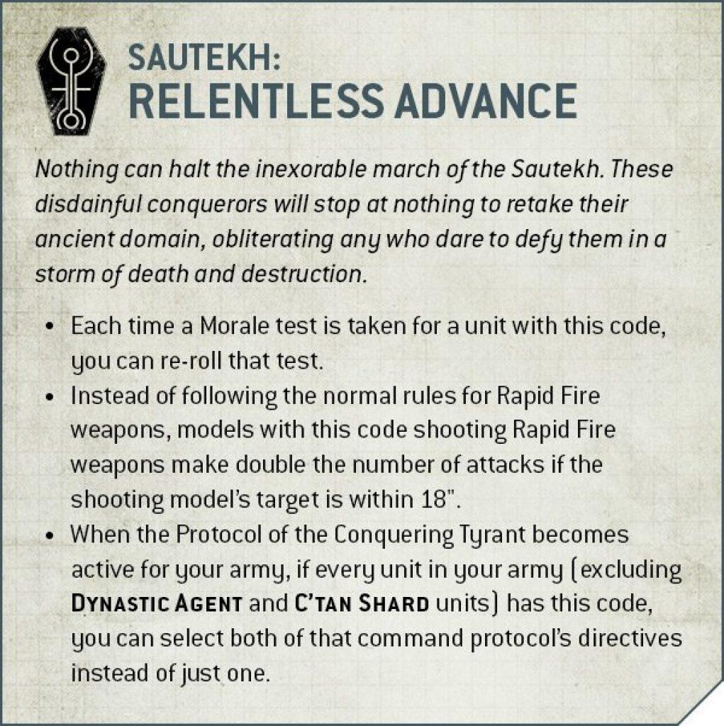 Sautekh Dynasti relentless advance