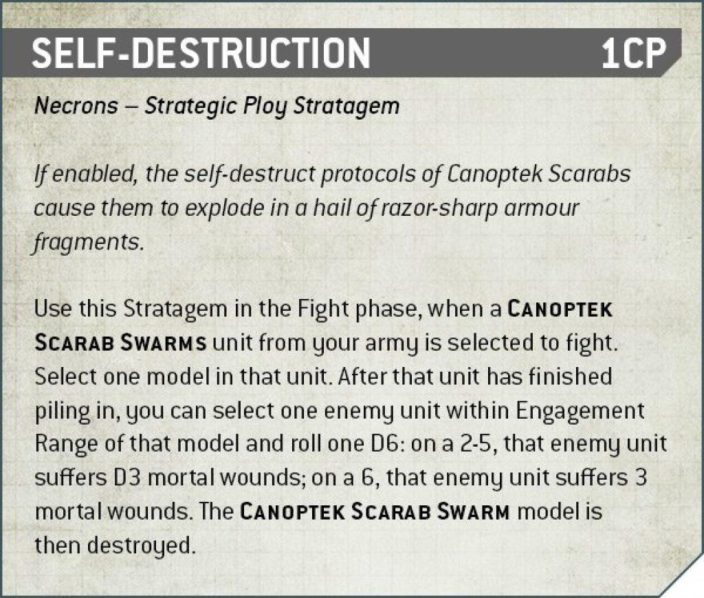 Self-Destruction Rules Nécron
