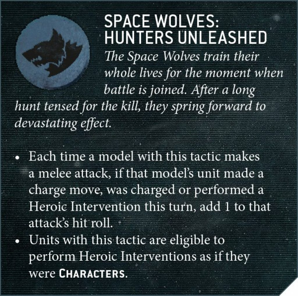 Space Wolves hunters unleashed rules