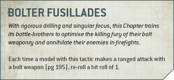 Bolter Fusillades Rules