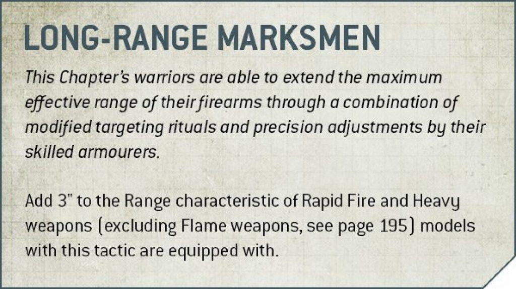 Long-range Marksmen rules