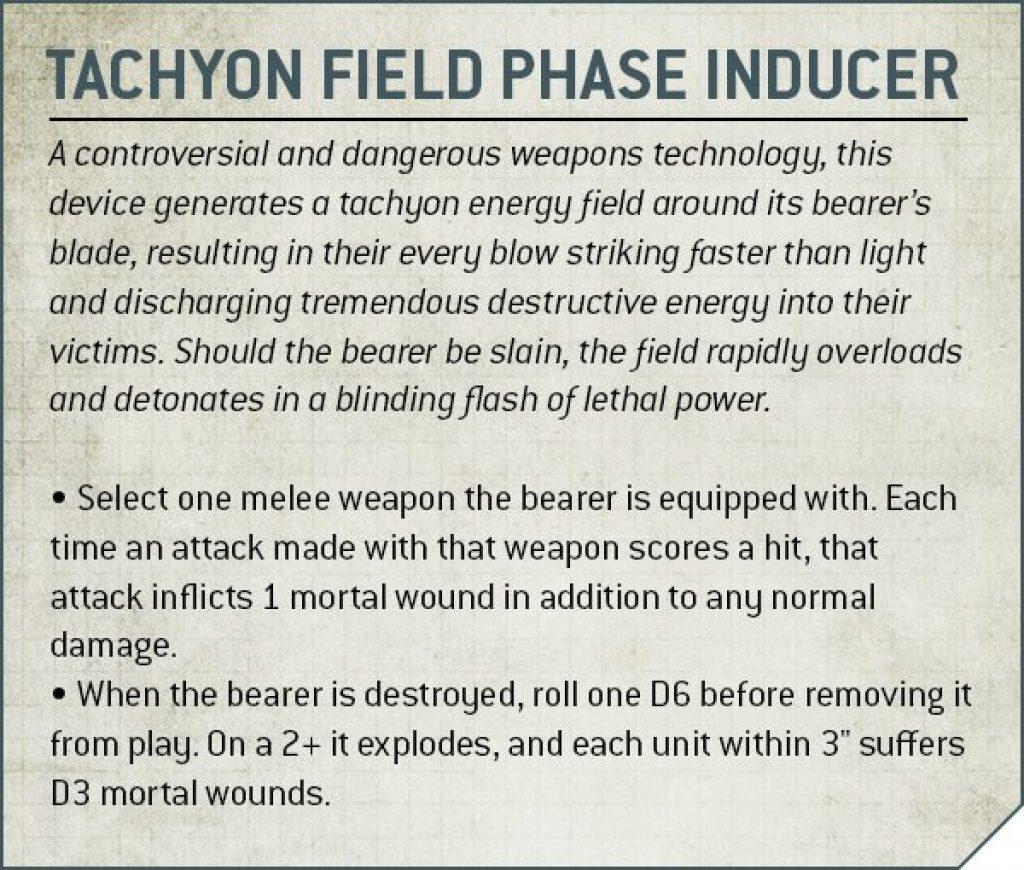 Tachyon Fields Phase Inducer Rules Nécron
