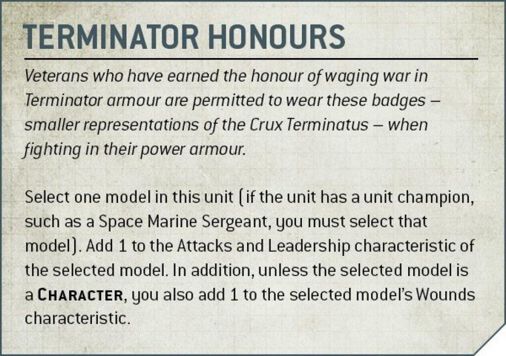 terminator honours rule