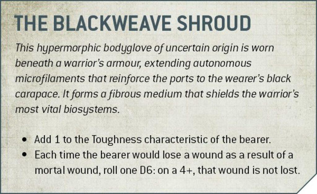 Deathwatch blackweave Shroud Rules