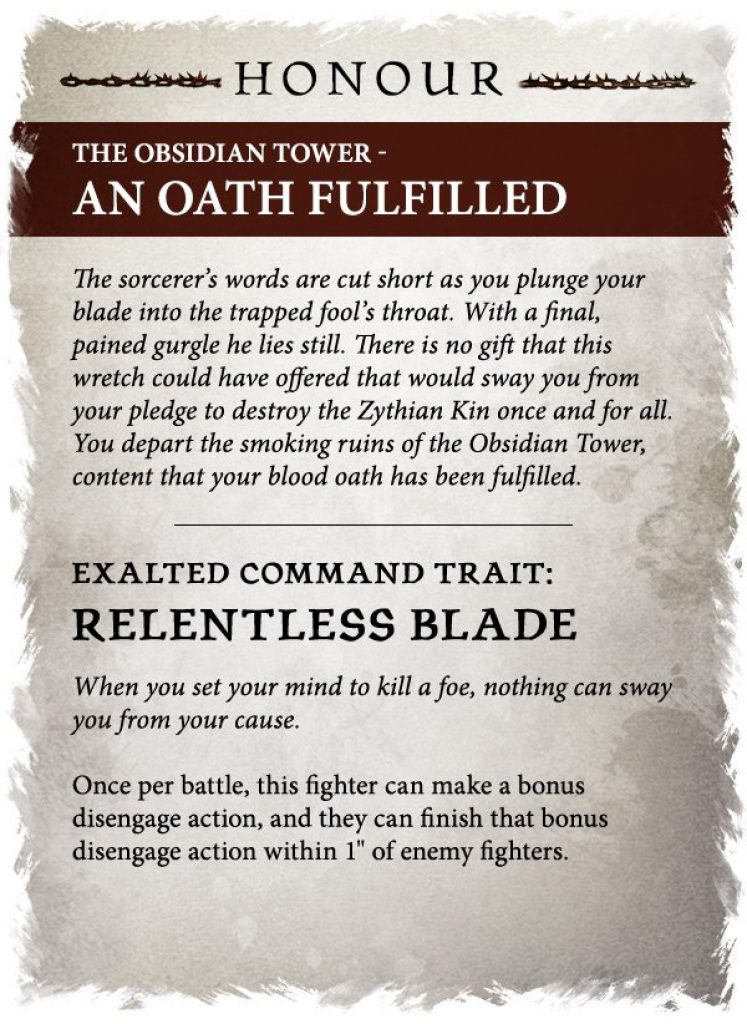 Obsidian tower an oath fulfilled rules warcry