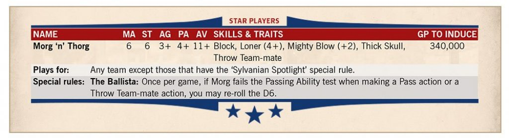 Morg'n'thorg stats blood bowl