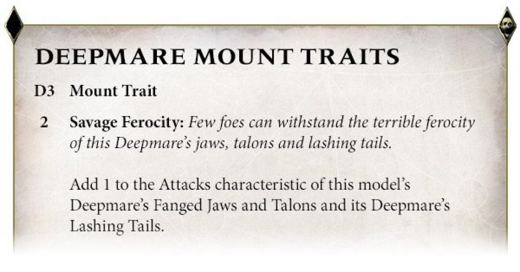 Deepmare mount traits rules