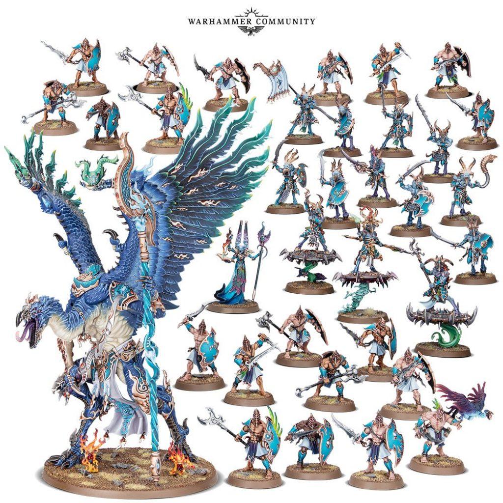 Disciples of Tzeentch Battleforge box content