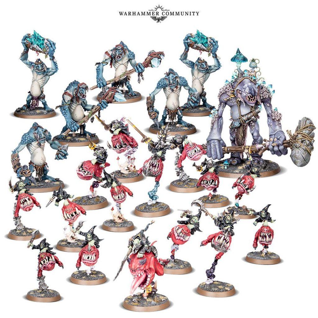 Gloomspite Gitz Battleforge box content