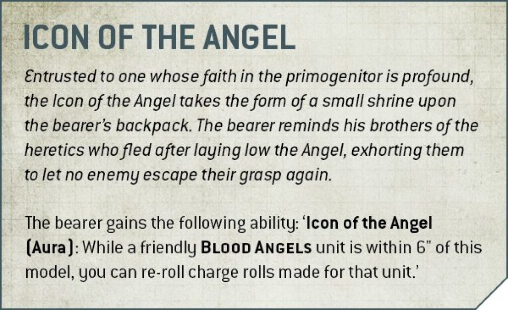 Codex Blood Angels V9 icon of the angel Rule