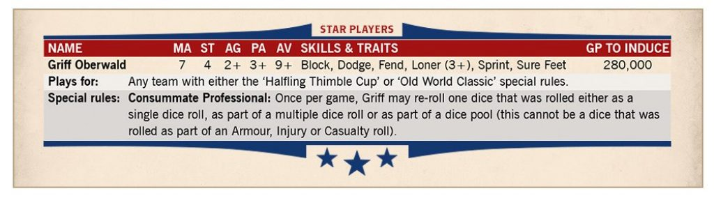 griff oberwald stats blood bowl