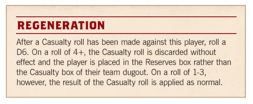 regeneration rules blood bowl season 2