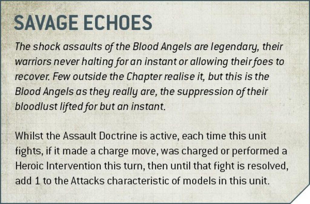 Codex Blood Angels V9 savage echoes rule
