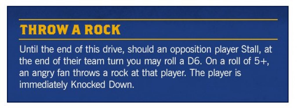 throw a rock rule blood Bowl