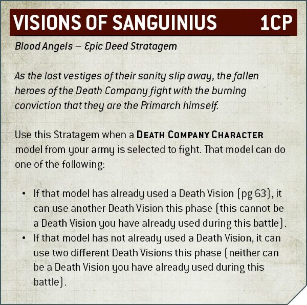 Codex Blood Angels V9 vision of sanguinius rule