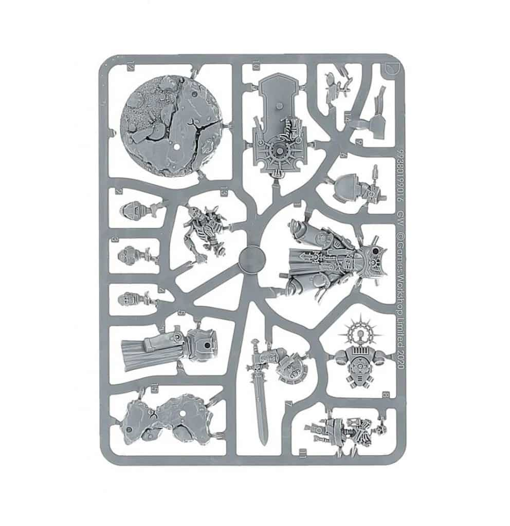 Warhammer V9 starting Set Command Edition Captain sprue