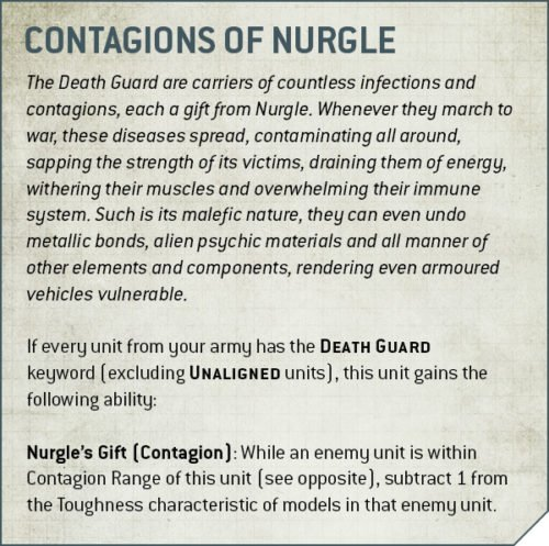 Codex Death Guard Rule Contagion of Nurgle