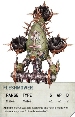 Codex Death Guard Rule Fleshmower