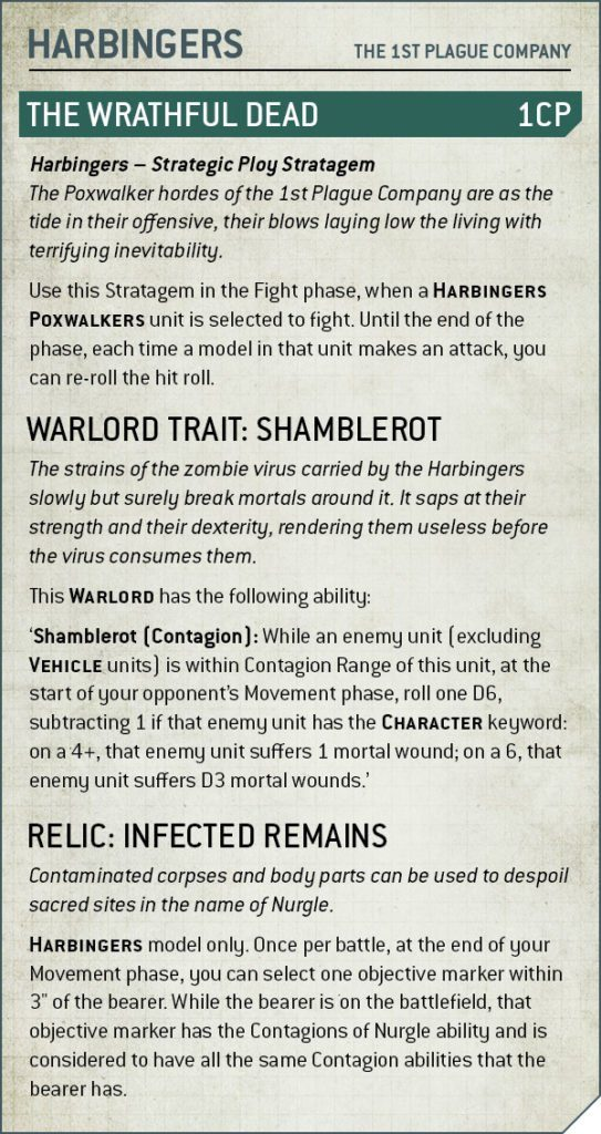 Codex Death Guard Rule Harbingers