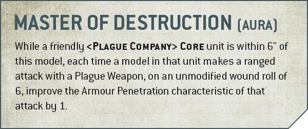 Warhammer 40k V9 Death Guard Rule Master of Destruction