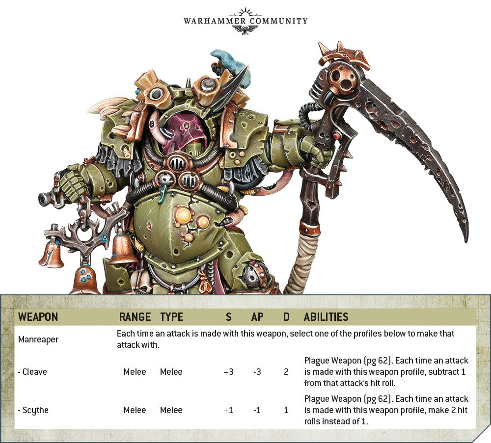Codex Death Guard Rule Deathshroud Weapons